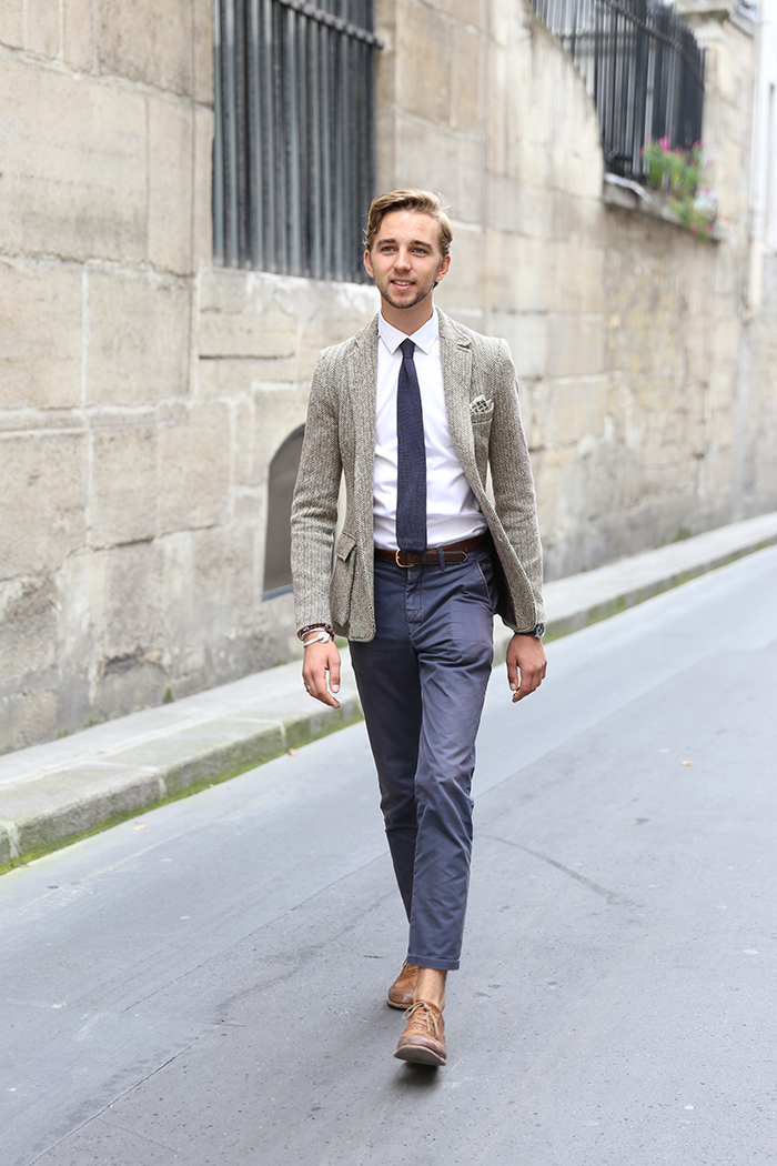 tenue veste en tweed
