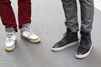 sneakers beiges et grises