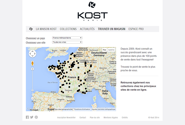 store map kost