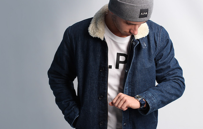Collaboration homme Carhartt A.P.C. streetwear