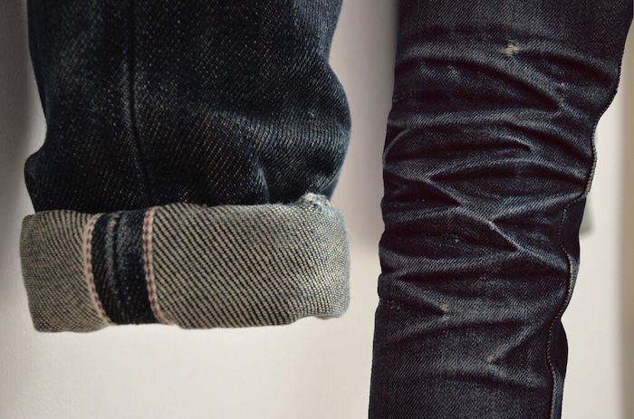 Jean Selvedge Naked And Famous usé Workwear