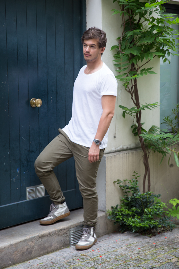 street style look militaire homme