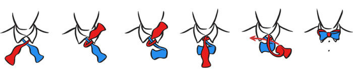how a tie-knot-butterfly