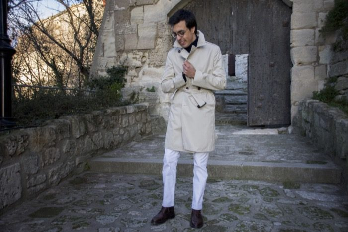 street style trench homme