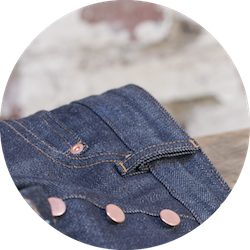 zoom jeans poches avant
