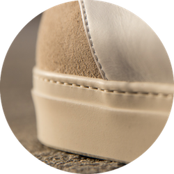 zoom semelle margom cousue sneakers blanches