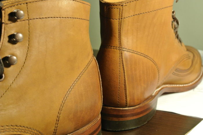 bottines camel veinées