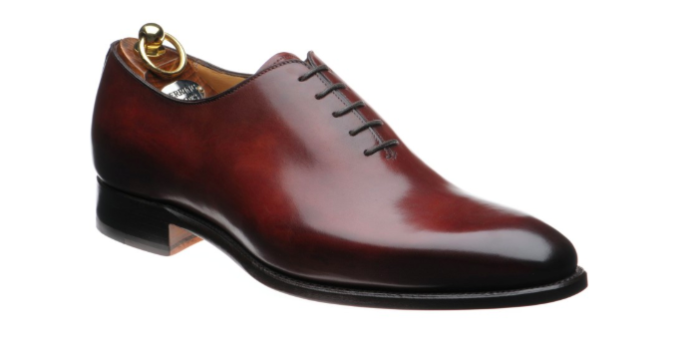 oxford richelieu rouge cuir