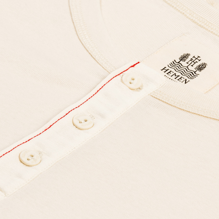 henley col trois boutons