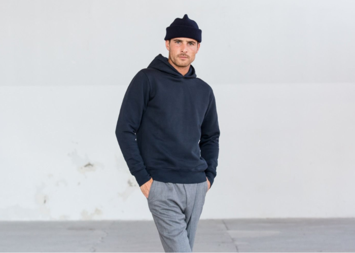 homme sweat shirt bleu navy