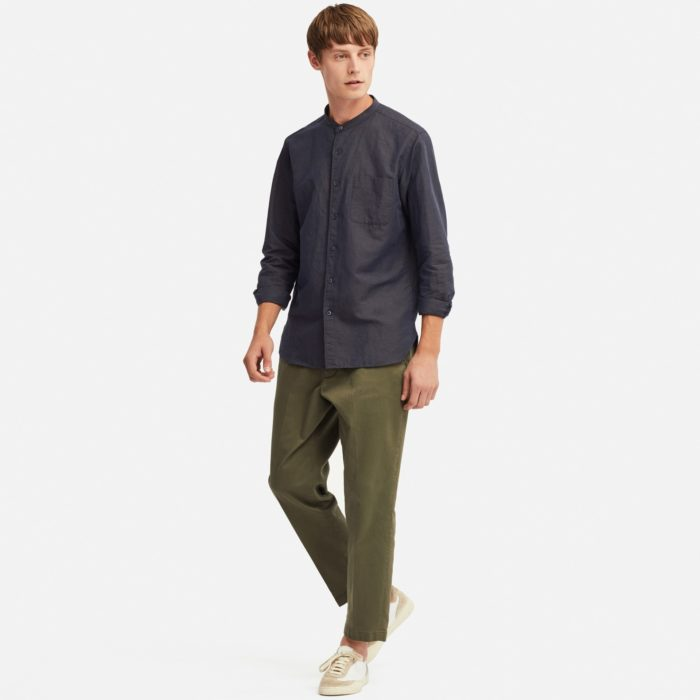 chemise uniqlo lin homme