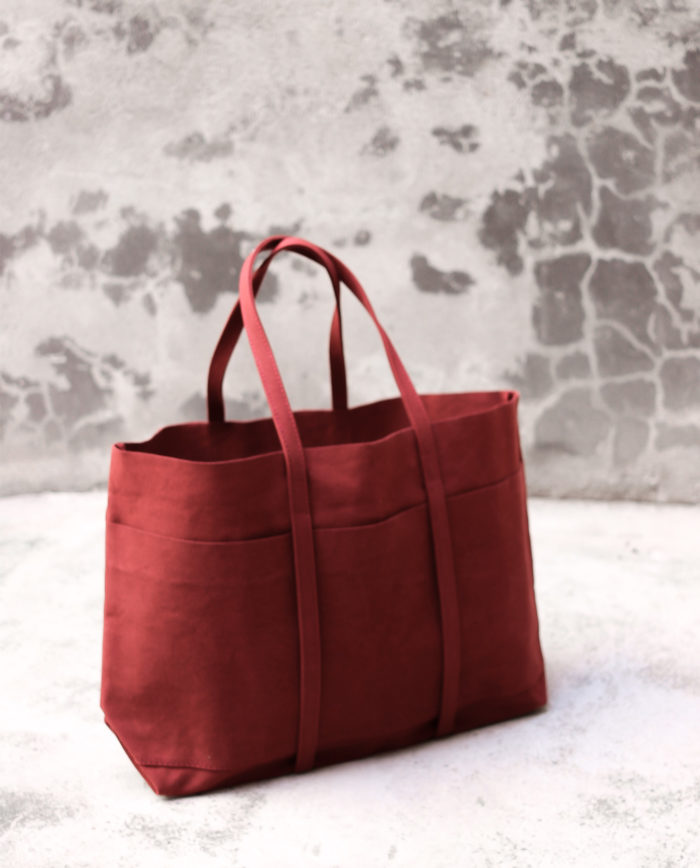 sac rouge contas tote bag