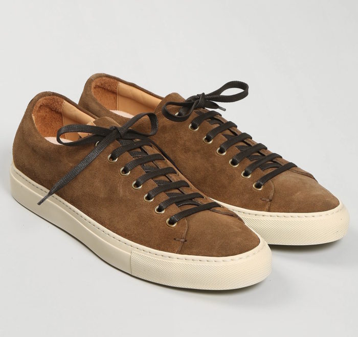 sneakers basse marron suede buttero