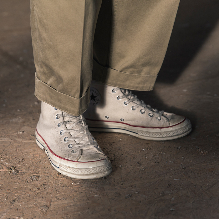 converse blanches