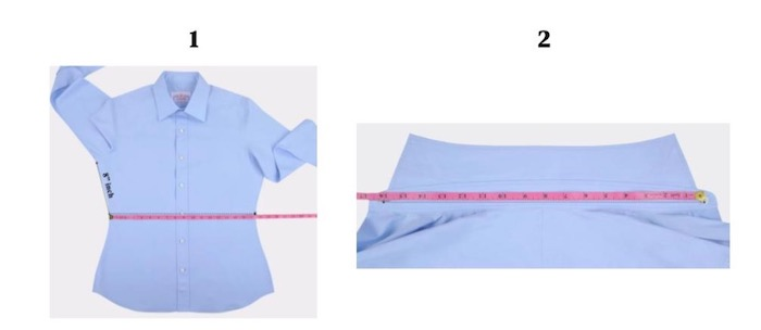 guide taille chemise bleu