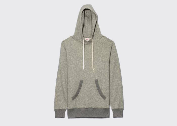 hoodie sweat capuche gris chine japon velva sheen