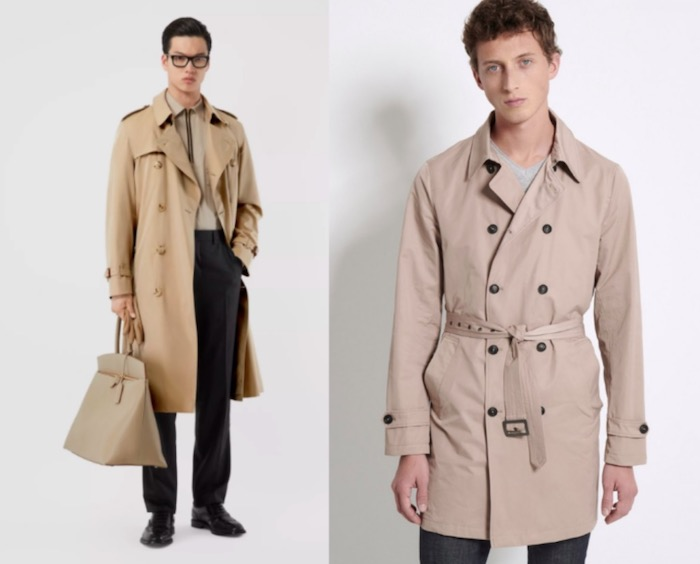 trench beige burberry comparaison