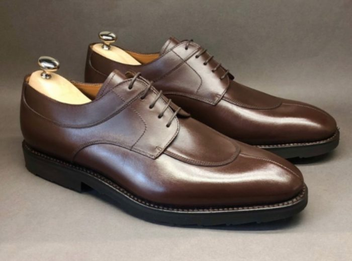 orbans chaussure derby chasse marron fonce