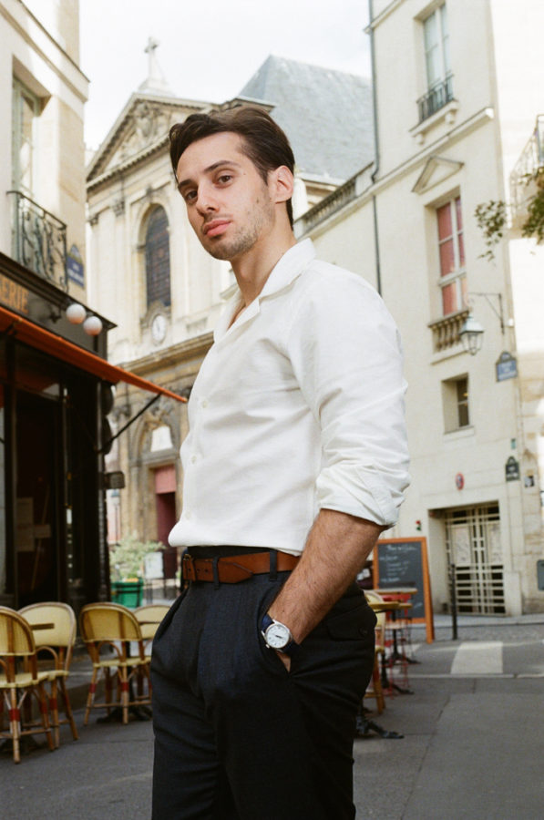 look homme chemise blanche