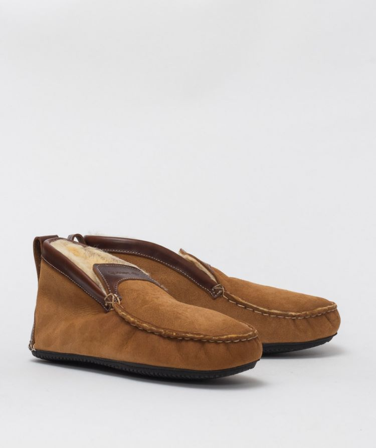 boots shearling interieur camel quoddy
