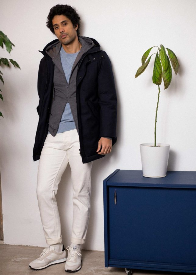 look homme parka