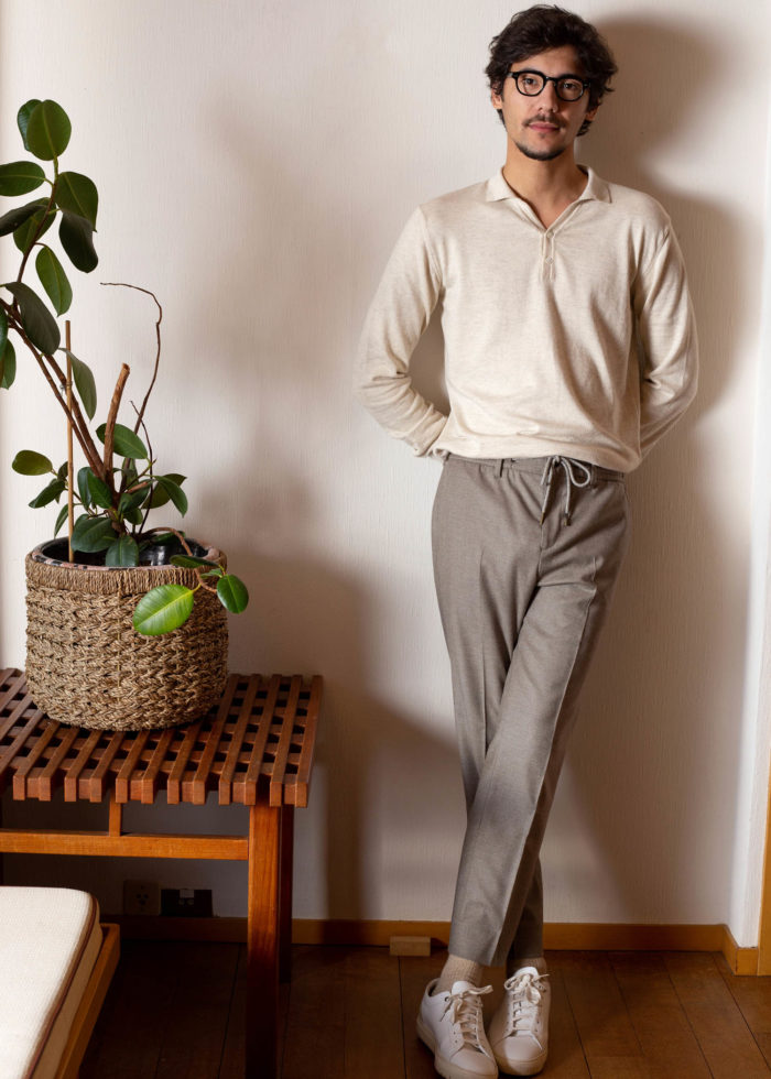 Look homme polo beige