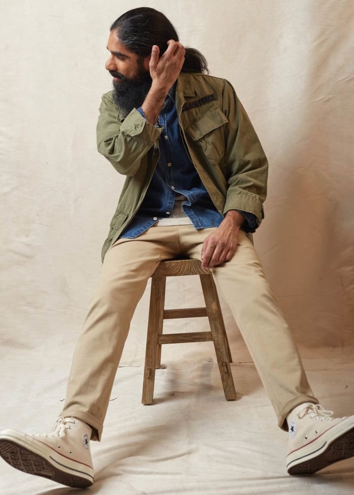 look homme chemise denim veste jungle jacket