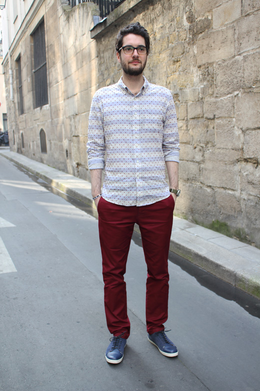 Chemise casual et chino rouge